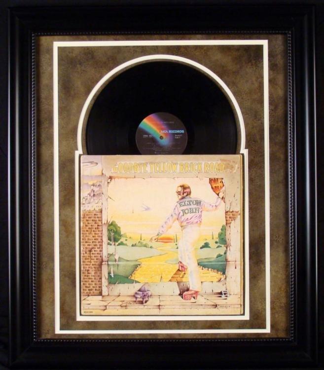 Elton John Yellow Brick Road Record Album Custom Frame