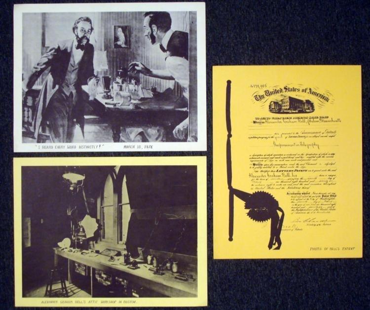 Three Vintage Prints- Alexander Graham Bell 1876