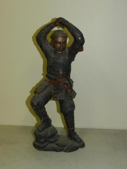 ET0518120002 Samurai Warrior Bronze Approx. 17in tall.
