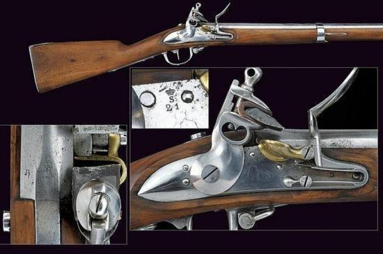 GT0607120011 A 1777 model flintlock gun Smooth barrel