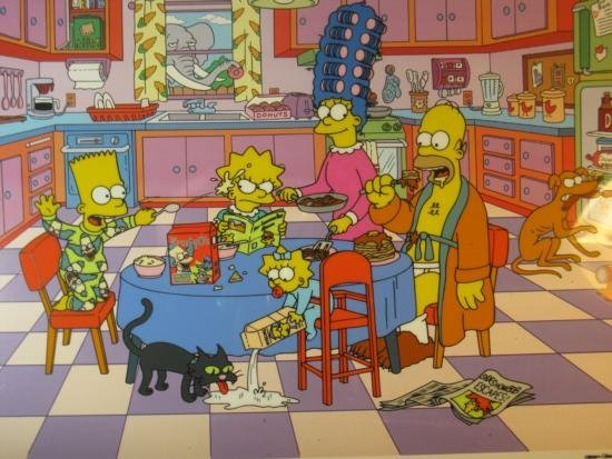 The Simpson at the Dinner Table
