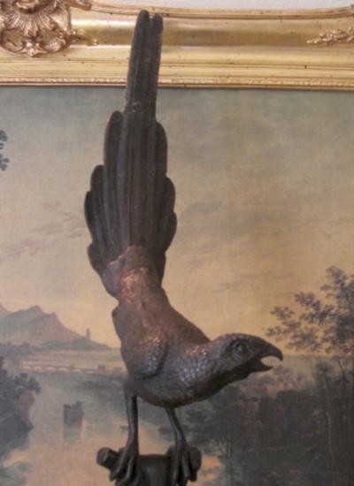 DDSM182 Lovely Bronze Sculpture Bird on a Branch 32 H x