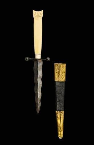 ET0606120047 DAGGER Nineteenth Century. Wavy Blade cru