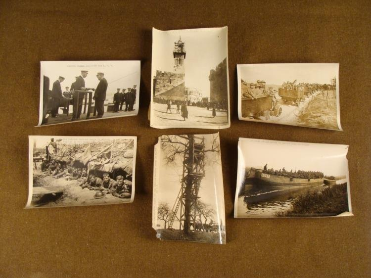 SIX ORIGINAL WWI BRITISH PRESS RELEASES PHOTOGRAPHS