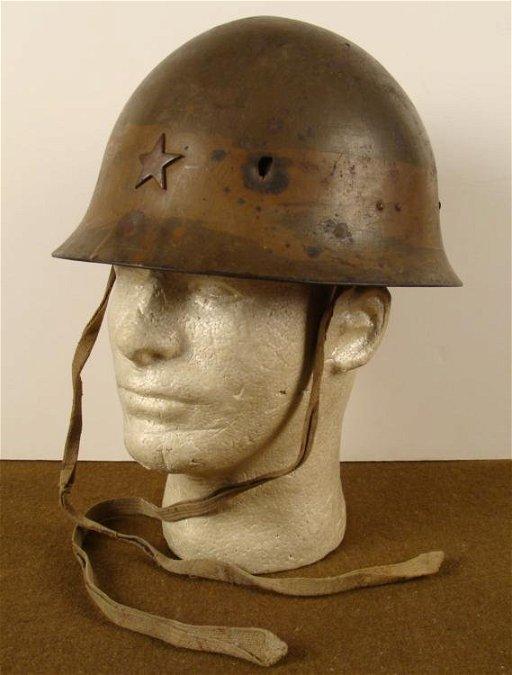 RARE ORIGINAL WWII JAPANESE TYPE 90 COMBAT HELMET - Sep 06, 2012