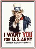 James Montgomery Flagg Uncle Same Poster Print WWII