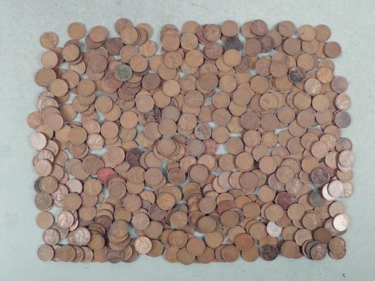 500 Mixed 1930s Wheat Cents-Many Mint Marks