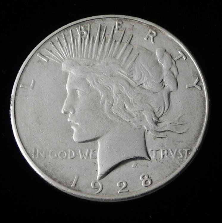 High Grade Key Date 1928 Silver Peace Dollar Coin