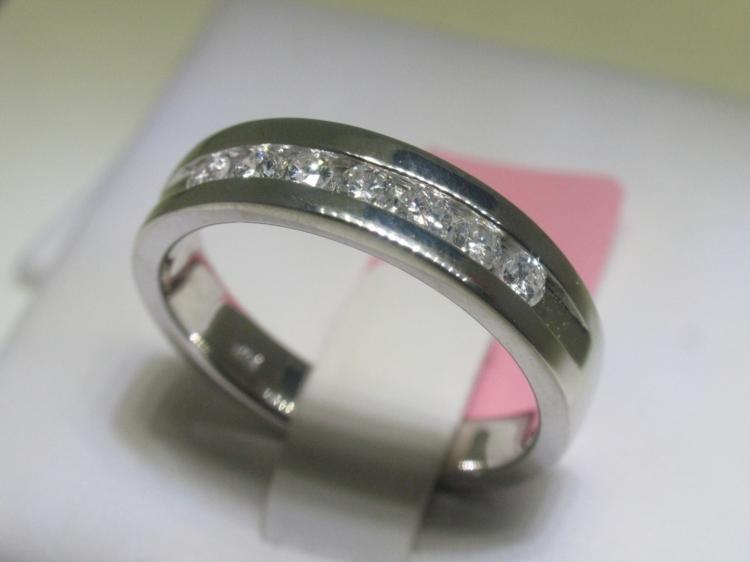.52 Carat All Diamond Men's 14K White Gold Ring