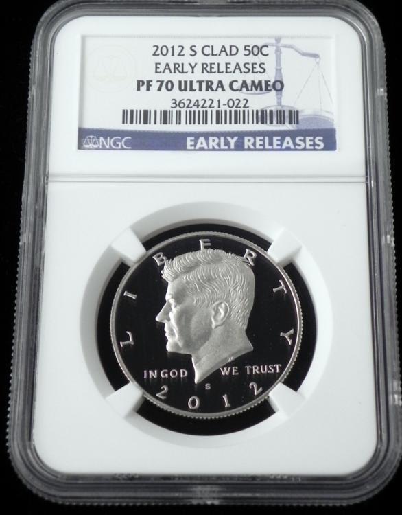 2012-S Clad Kennedy Half Dollar NGC PF 70 Ultra Cameo