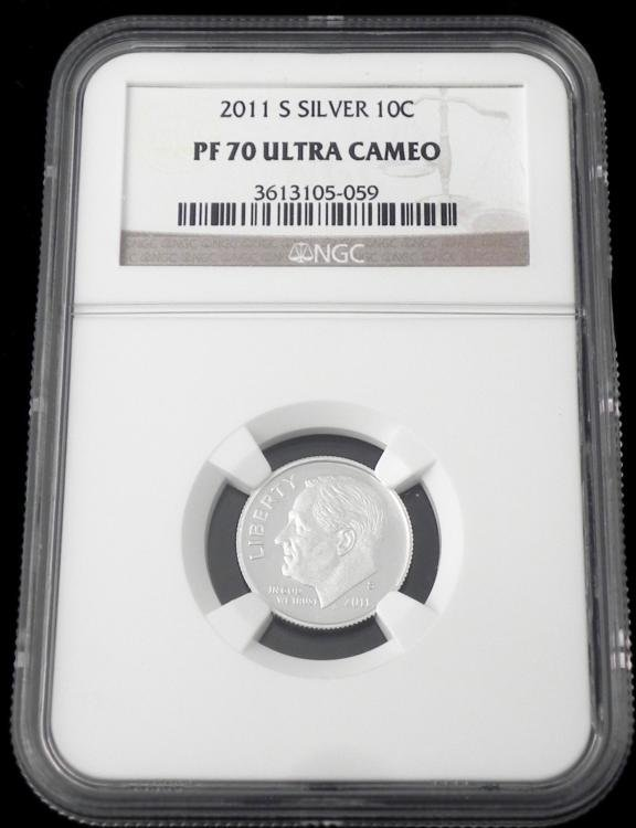 2011-S Silver Ten Cent Dime NGC PF 70 Ultra Cameo