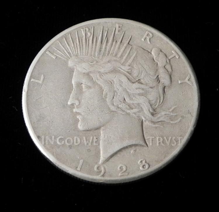 1928 Key Date Peace Silver Dollar Coin