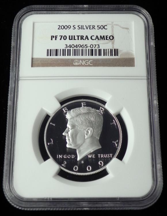 2009-S Silver Kennedy Half NGC PF 70 Ultra Cameo Coin