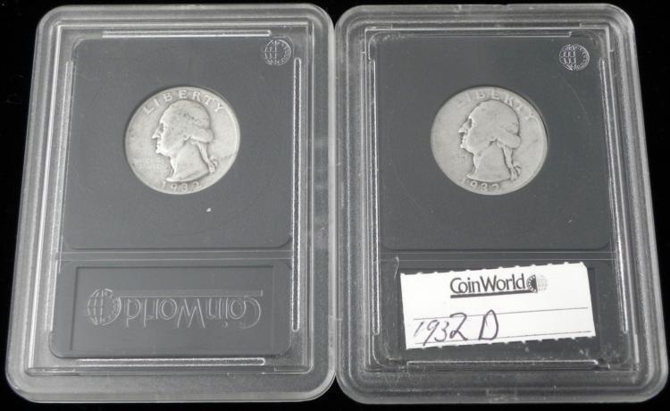 1932-D 1932-S Washington Quarters - Coin World Holders