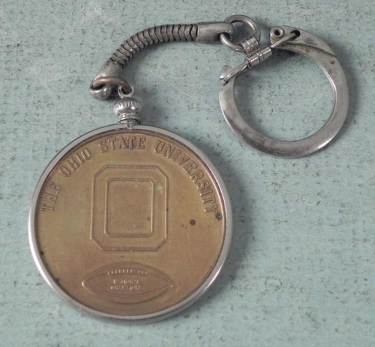 1968 Rose Bowl Ohio State University Medal Key Chain