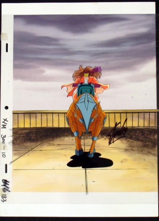 Original X-Men Signed Stan Lee Animation Cel Action