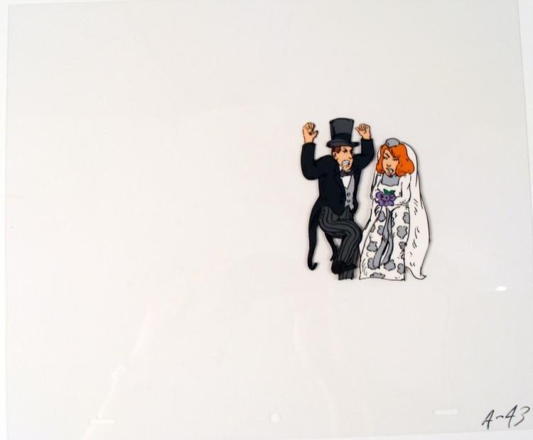 Word of Caution Animation Cel Original Bride and Groom