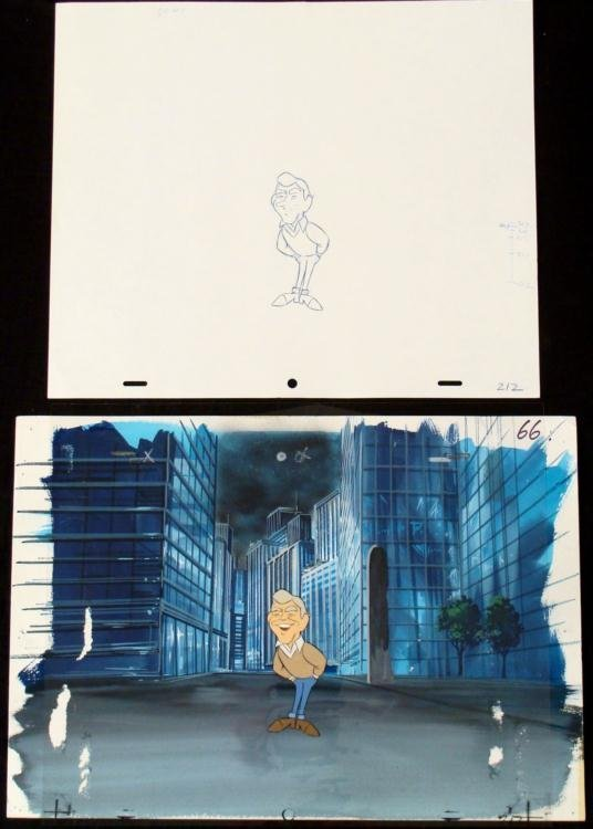 Merv Griffin Animation Background Orig Drawing Cel Art