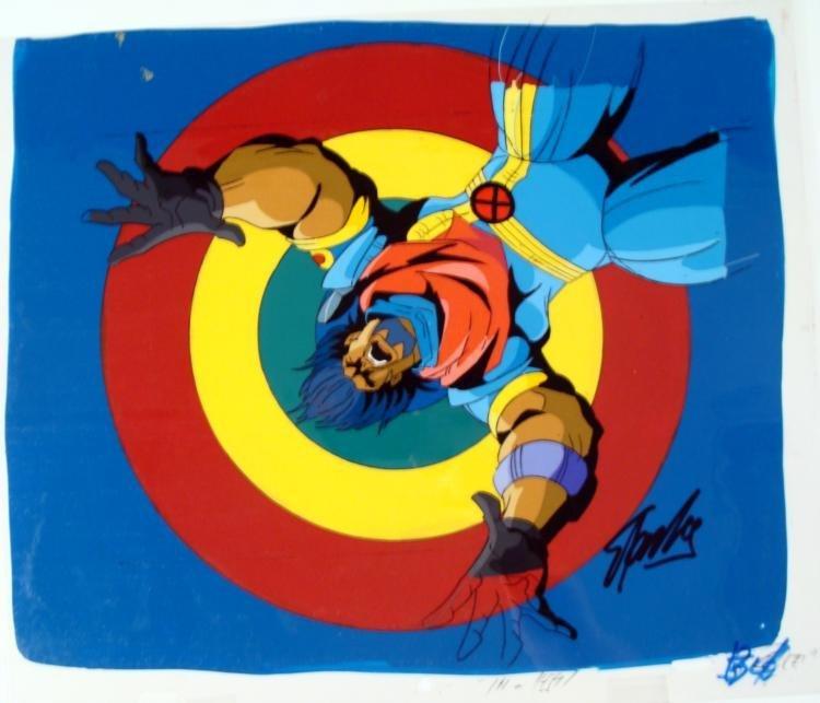 Original Long Gone X-MEN Cel Signed Stan Lee Animation