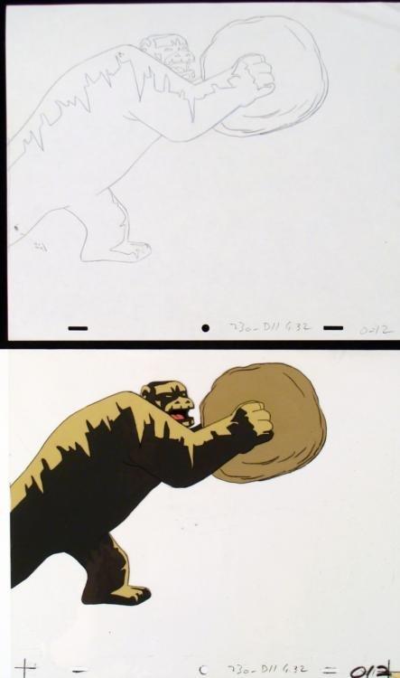 Cel Original Herculoids Drawing Igoo Smash Animation