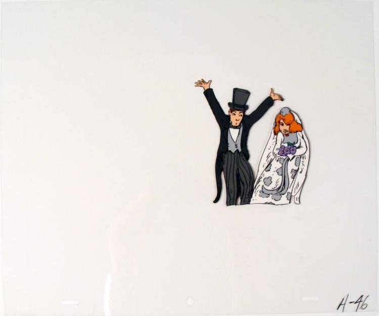 Bride and Groom Cel Original Word to the Wise Animation
