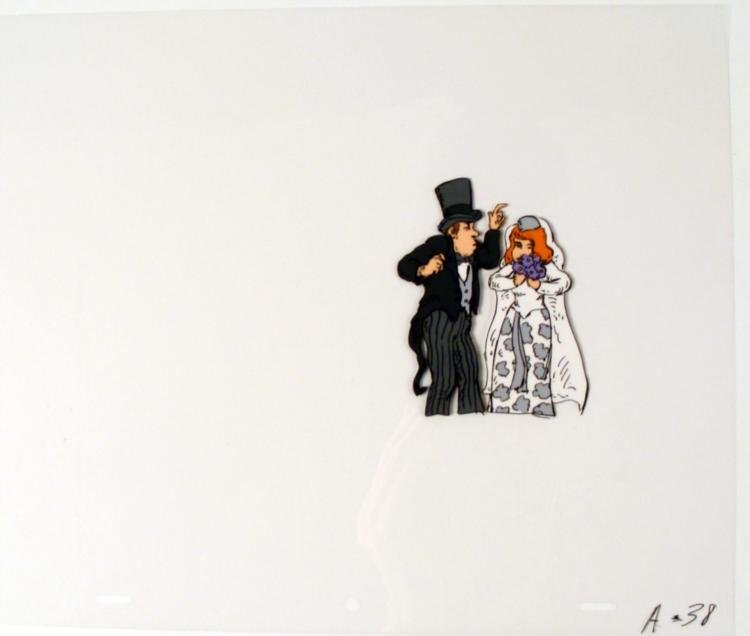 Cel Original Tread Lightly Animation Bride and Groom