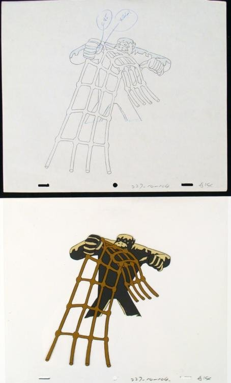 Too Strong Cel Original Herculoids Drawing Animation