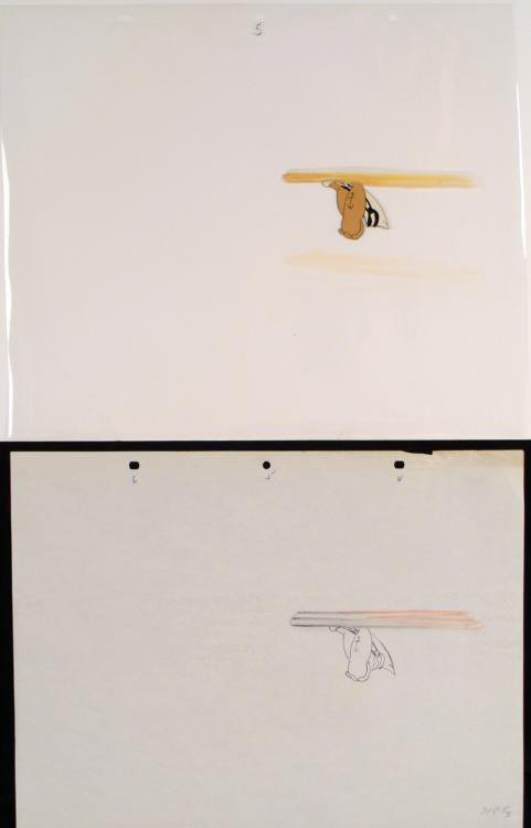 Drawing Cel Original Helicopter Head Popeye Animation