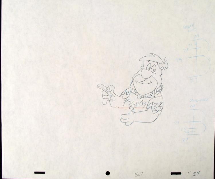Original Lunch Break Drawing Production The Flinstones