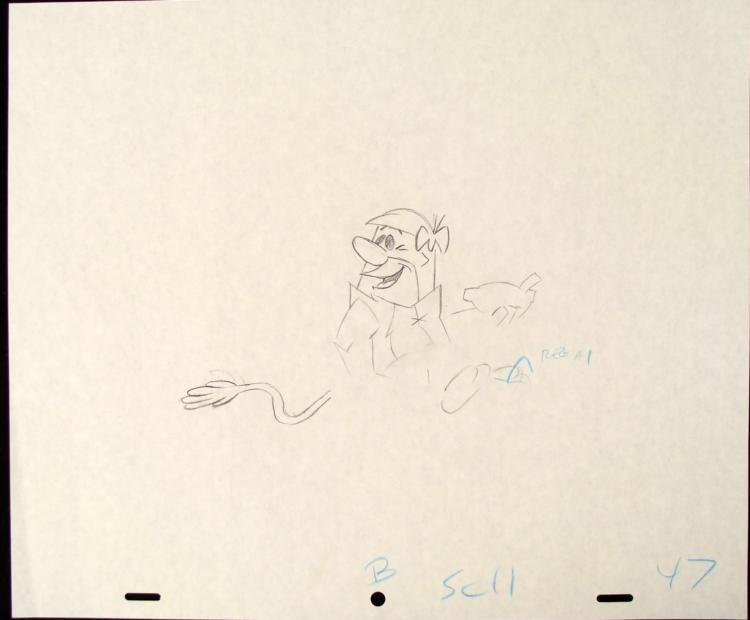 The Flintsones Original Barney Eating Drawing Animation