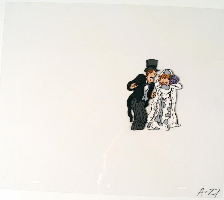 Bride and Groom Original Cel Extremely Upset Animation