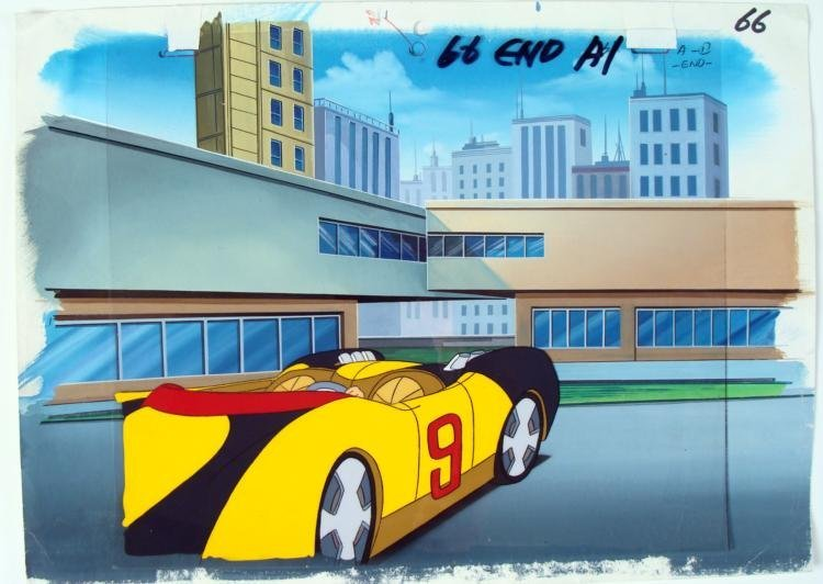 Speed Racer Background Original Cel Get Ready Animation
