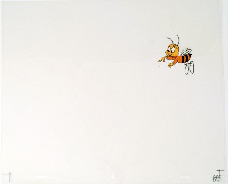 Spotted Orig Production Honey Nut Cheerios Cel Buzz Art