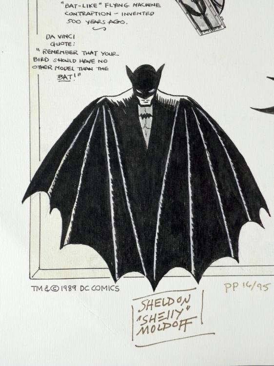 Batman Print Signed Bob Kayne & Sheldon Moldoff Art - 2