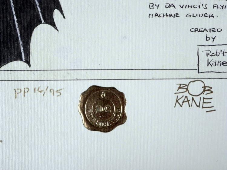 Batman Print Signed Bob Kayne & Sheldon Moldoff Art - 3