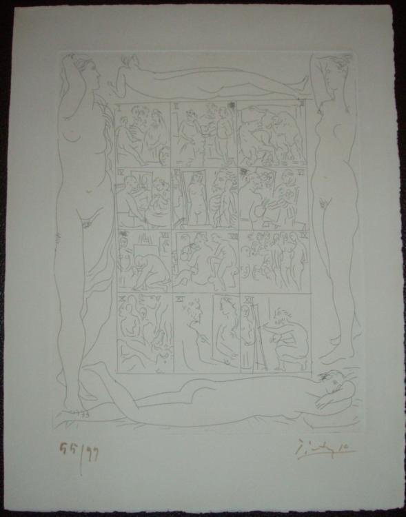 Pablo Picasso Signed Etching Table des Eaux-Fortes 1931