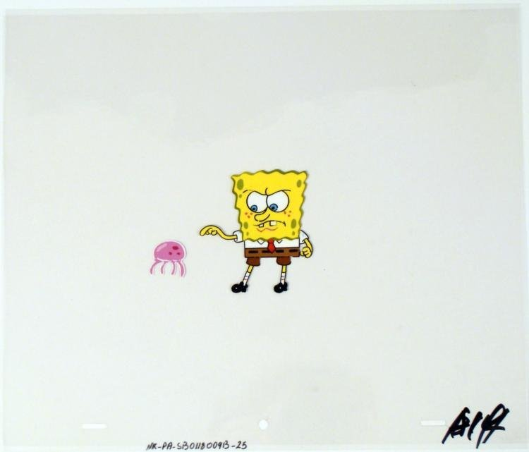 Original Last Warning Art Cel Spongebob Animation