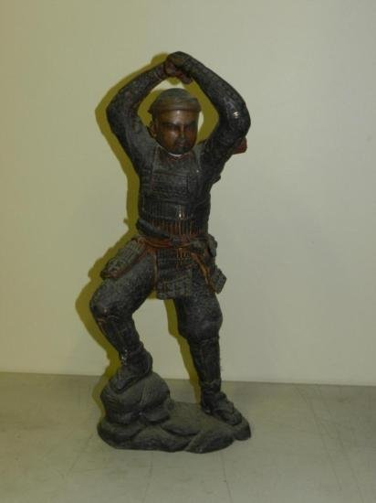 ET0518120002 Samurai Warrior Bronze Approx. 17in tall.