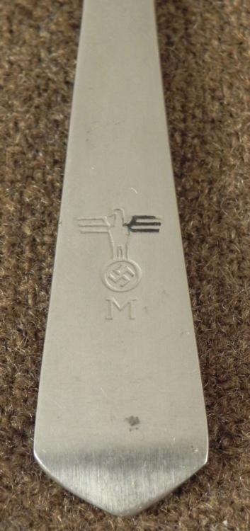 ORIGINAL NAZI KRIEGSMARINE/NAVY DINING HALL TEASPOON