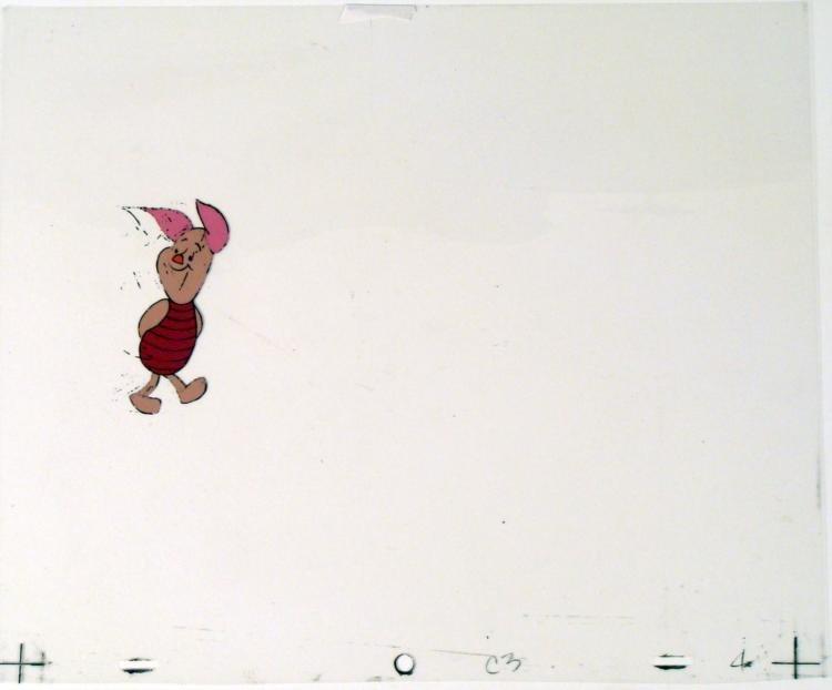 Winnie the Pooh Animation Cel Original Art Pigglet