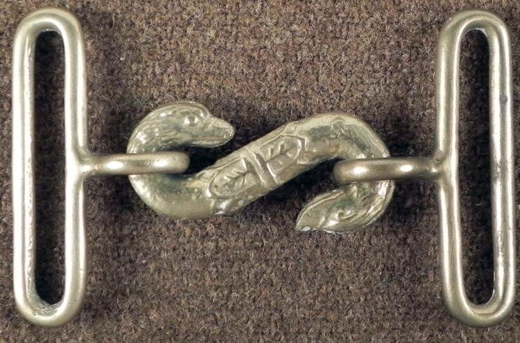CIVIL WAR SNAKE BUCKLE BRITISH MADE DOUBLE HEADED SNAKE