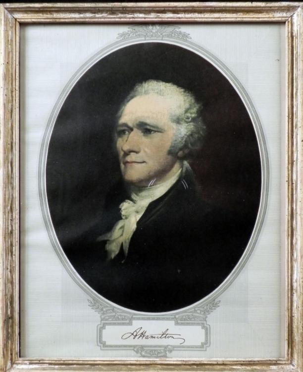 VINTAGE ALEXANDER HAMILTON FRAMED PRINT