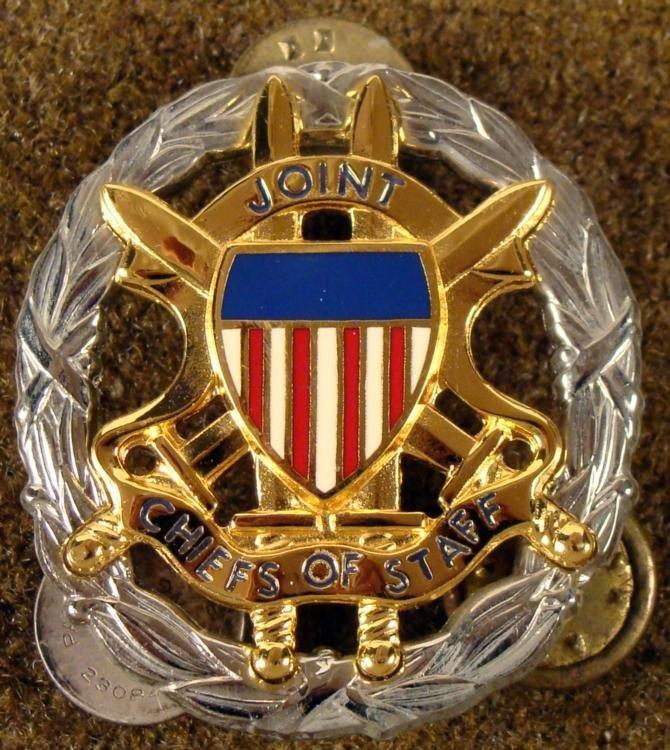 "U.S. GOVT ""JOINT CHIEFS OF STAFF"" BADGE -RARE"