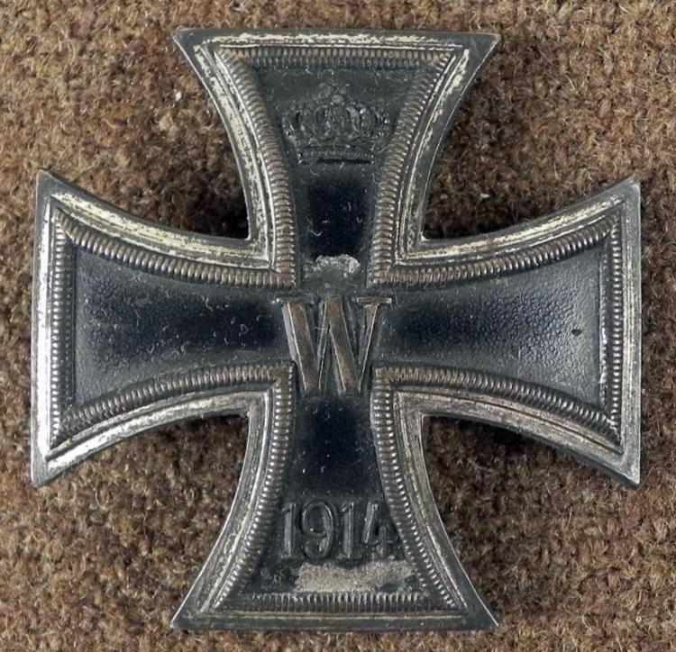 ORIGINAL 1914 WWI IMPERIAL GERMAN IRON CROSS 1ST CLASS