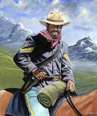 John W Jones - Buffalo Soldier on Patrol