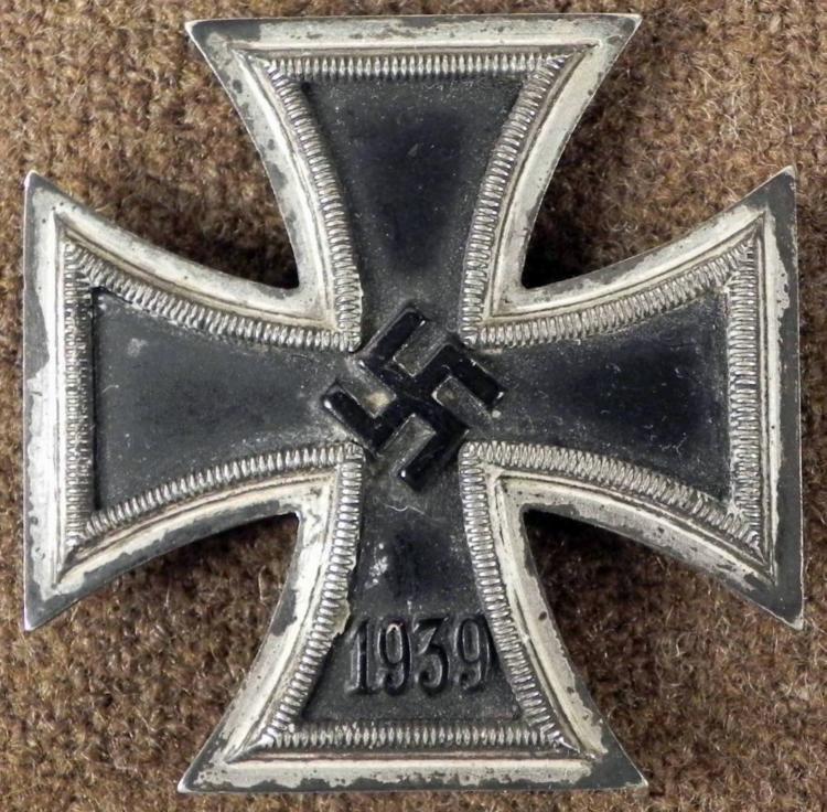 RARE1939 NAZI 1ST MODEL IRON CROSS ORIGINAL WWII