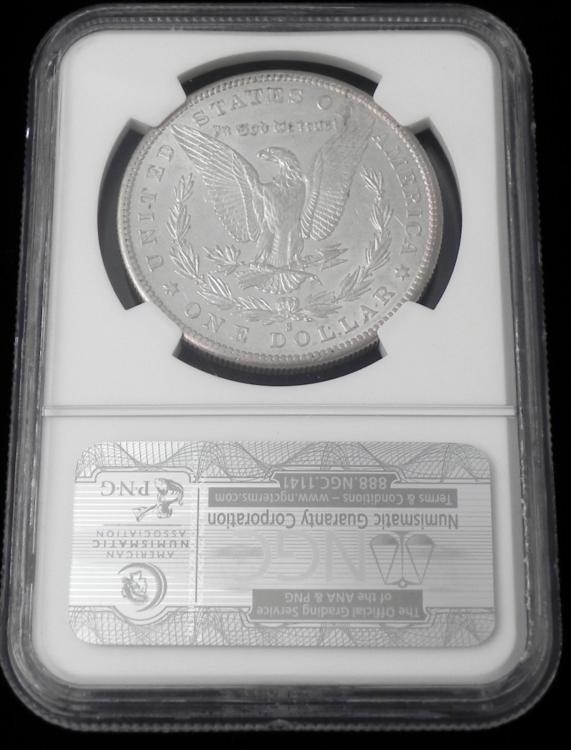 1884 NGC AU 53 Morgan Silver One Dollar Coin - 2