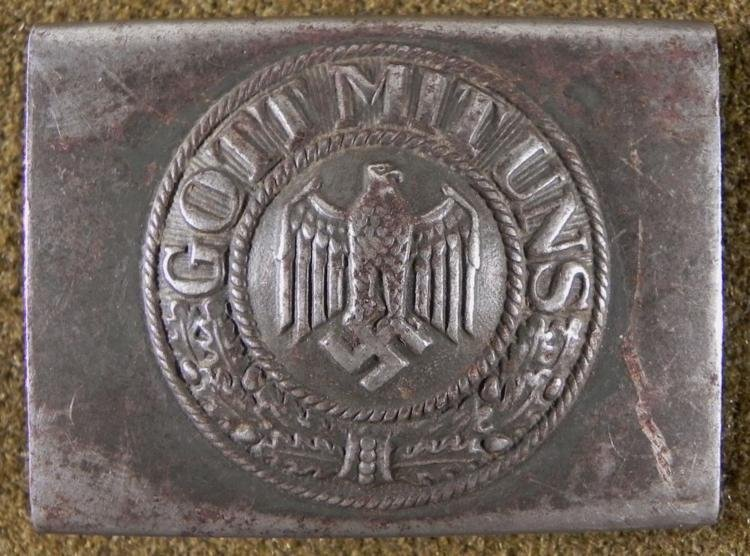 EARLY ORIGINAL NAZI WEHRMACHT BELT BUCKLE