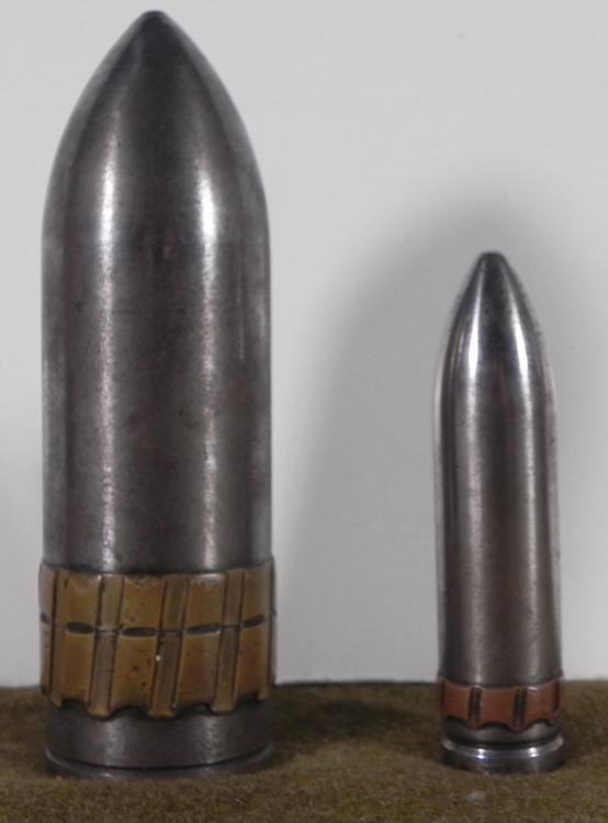 2 WWII LUFTWAFFE ARTILLERY SHELLS-HEAVY STEEL