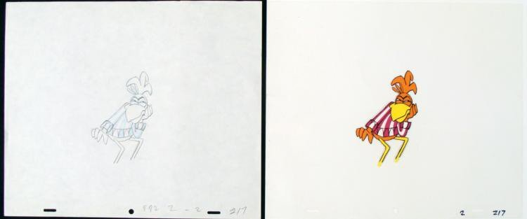 Coco Puffs Cel Catching On Original Animation Drawing